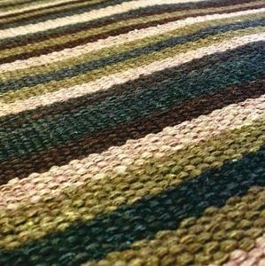 Codimat Co-Design - kilim lines green - Moquette