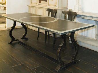 PROVENCE ET FILS - table diane 240 x 90 x 76 -plateau bois rembordé e - Table De Repas Rectangulaire