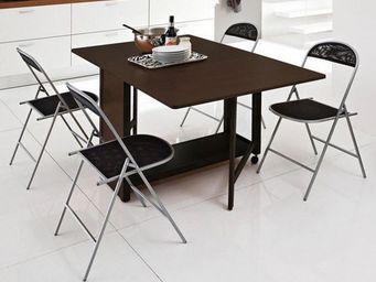 Domitalia - lot de 2 chaises pliantes sea noir. - Chaise Pliante