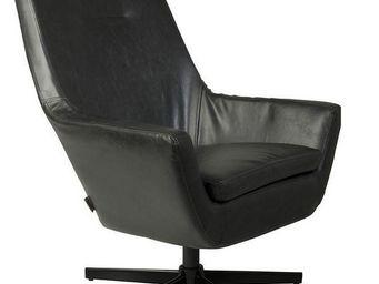 ZUIVER - fauteuil zuiver don noir - Fauteuil