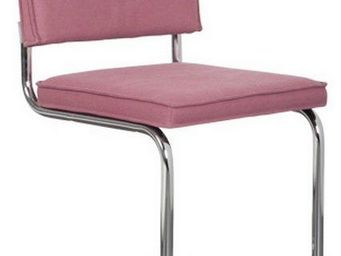 ZUIVER - chaise zuiver ridge vintage coloris rose. - Chaise