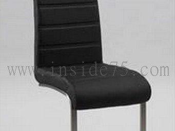 Calligaris - chaise wind en cuir noir et acier - Chaise