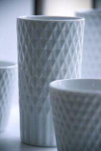 224PORCELAIN -  - Vase À Fleurs