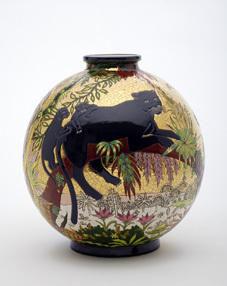 Emaux De Longwy -  - Vase D�coratif