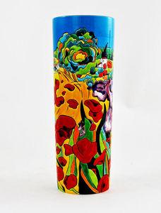 Emaux De Longwy -  - Vase � Fleurs