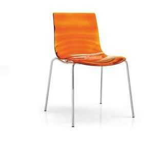 Calligaris - chaise design l'eau de calligaris orange transpar - Chaise
