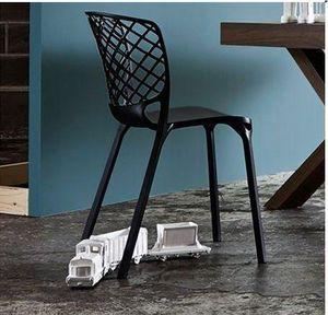 Calligaris - chaise empilable gamera de calligaris noire - Chaise