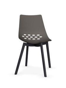 Calligaris - chaise jam w de calligaris grège piétement graphit - Chaise