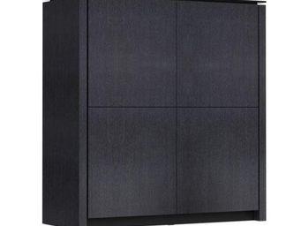 Calligaris - buffet mag 4 portes de calligaris graphite avec pl - Buffet Haut