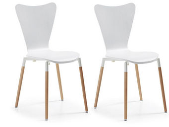 MyCreationDesign - conor blanc - lot de 2 - Chaise