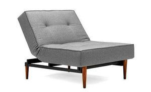 INNOVATION - fauteuil lit design splitback bois gris innovation - Fauteuil Bas