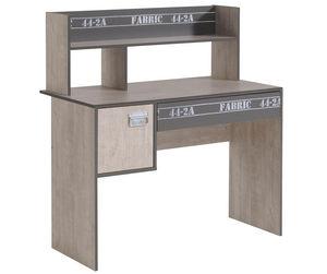 WHITE LABEL - bureau enfant moderne coloris bois et gris loft - Bureau Enfant