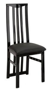 COMFORIUM - lot de 2 chaises noires garnies de strass - Chaise