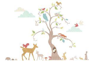 Funtosee - kit de stickers la for�t - Sticker D�cor Adh�sif Enfant