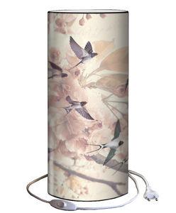 Plage Des Demoiselles - lampe � poser hirondelles 30x12cm - Lampe � Poser