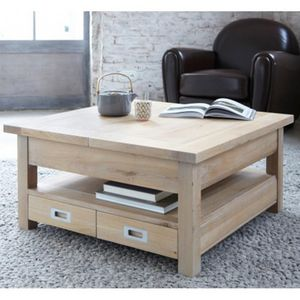 ARTI MEUBLES - table basse carrée toronto - Table Basse Carrée
