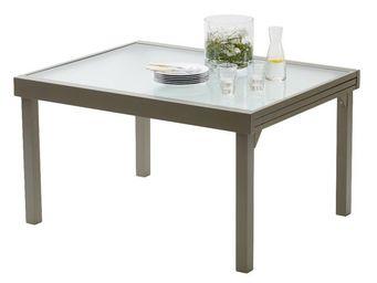 WILSA GARDEN - table jardin modulo 135-270cm taupe - Table De Jardin