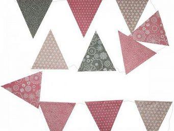 Lamali - guirlande fête fanion colorés juliette - Guirlande