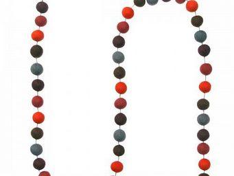 Lamali - guirlande boules feutres couleurs velours - Guirlande