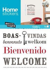 Nouvelles Images - sticker mural bienvenue en plusieurs langues - Sticker
