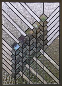 IRISATIONS - Design Ysania - prairie grand - Vitrail