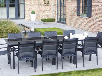 WILSA GARDEN - salon de jardin modulo 1 table + 10 fauteuils - Salle À Manger De Jardin