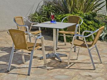 HEVEA - salon de jardin 4 places coffee - Salle À Manger De Jardin