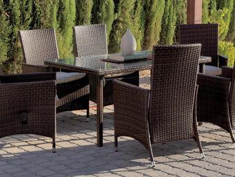 HEVEA - salon jardin fauteuils multipositions riva - Salle À Manger De Jardin