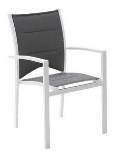 WILSA GARDEN - fauteuil de jardin modulo blanc/gris perle - Fauteuil De Jardin