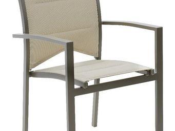WILSA GARDEN - fauteuil de jardin modulo taupe - Fauteuil De Jardin
