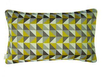 BAILET - coussin d�co prisme - 30x50 cm - verso jaune - Coussin Rectangulaire