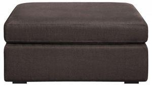 Home Spirit - pouf neptune extra large tissu tweed marron - Pouf