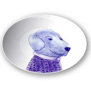 la Magie dans l'Image - assiette mon petit chien - Assiette De Présentation