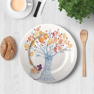 la Magie dans l'Image - assiette un arbre - Assiette De Présentation