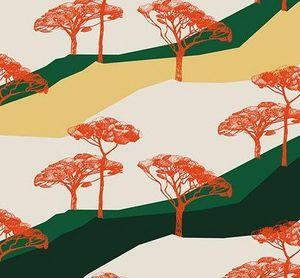 Ressource - sous les pins  - Papier Peint