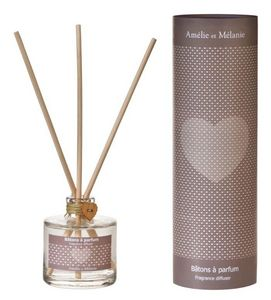Amelie et Melanie - coeur fleuri poudré - Diffuseur De Parfum