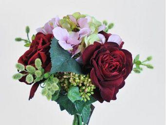 NestyHome - bouquet roses rouges - Fleur Artificielle