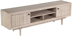 ZAGO - meuble tv avec niches de rangement en teck sablé 2 - Meuble Tv Hi Fi