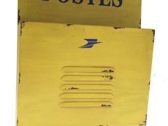 Antic Line Creations - range courrier postes jaune - Bac À Courrier