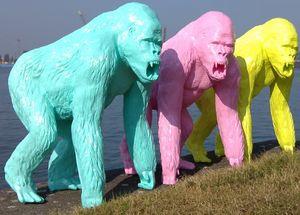 Tex-Artes - gorille - Sculpture Animalière