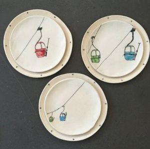 THREE SEVEN - ski lift - Assiette Plate