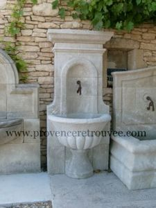 Provence Retrouvee - fontaine murale - Fontaine Murale D'extérieur