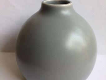 Drake - vase boule gris pour diffuseur de parfum - Vase À Fleurs