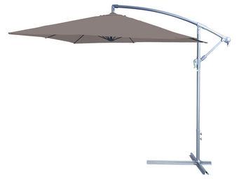 CEMONJARDIN - parasol déporté 250 x 250 taupe - Parasol Excentré