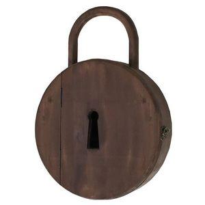 CHEMIN DE CAMPAGNE - boîte à clé clef murale cadenas en bois - Armoire À Clefs