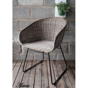 Mathi Design - fauteuil en rotin astrid - Fauteuil
