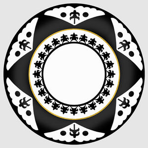Design Atelier - black star - Assiette Décorative