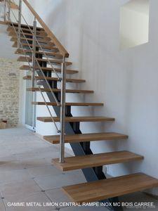 ESCALIERS DE FRANCE -  - Escalier À Limon Central
