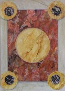Josef Hoffmann - faux marbre - Décoration Murale