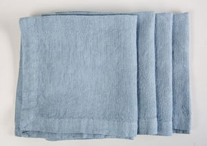 la FABBRICA del LINO - lot de 4 serviettes - Serviette De Table